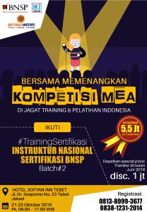 iklan Sertifikasi Instruktur BNSP Batch 2